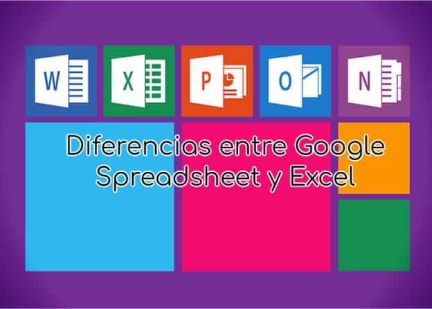 Diferencias entre Google Spreadsheet y Excel